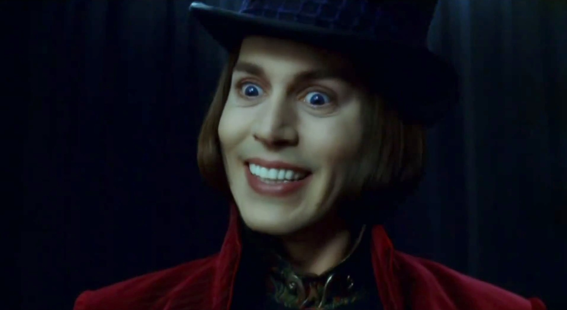 was watching charlie and the chocolate factory last night with my    Willy Wonka And The Chocolate Factory Johnny Depp Cast
